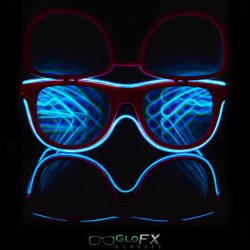 Customizable Flip Luminescence Diffraction Glasses