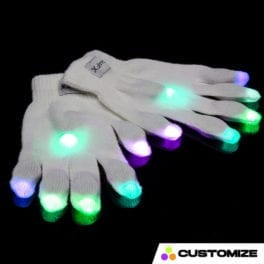 GloFX 12-Light Customizable LED Glove Set