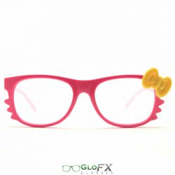 GloFX Kitty Pink Diffraction Glasses