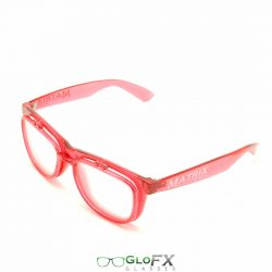 GloFX Matrix Diffraction Glasses- Transparent Red