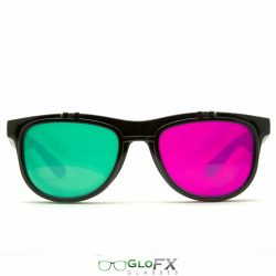 GloFX Flip 3Diffraction Glasses- Black