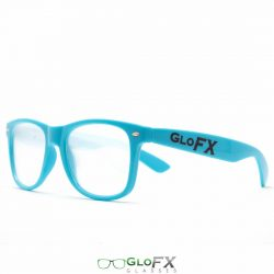 GloFX Ultimate Diffraction Glasses – Blue - Front