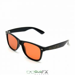 GloFX Ultimate Diffraction Glasses – Black W/ Auburn Lenses
