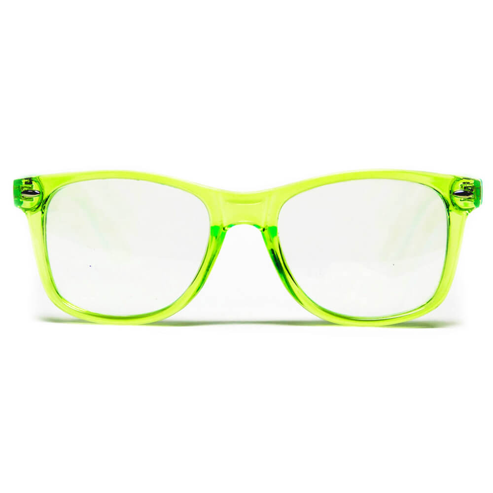 GloFX   Diffraction Glasses – Transparent Green