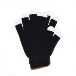 GloFX Black with White Tip Gloves