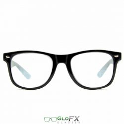 GloFX Spiral Diffraction Glasses - Black