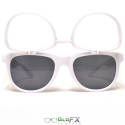 GloFX Flip Sunglasses + Diffraction – White