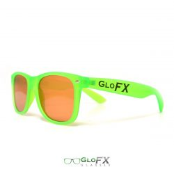 GloFX Ultimate Diffraction Glasses - GLOW Green Auburn Tinted
