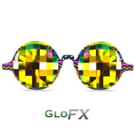 Tribal Kaleidoscope Glasses Rainbow Bug Eye Flat Back