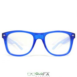GloFX Ultimate Diffraction Glasses – Transparent Blue