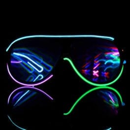 Customizable 6 Color Luminescence Diffraction Glasses