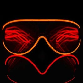 Customizable Aviator Style Luminescence Diffraction Glasses