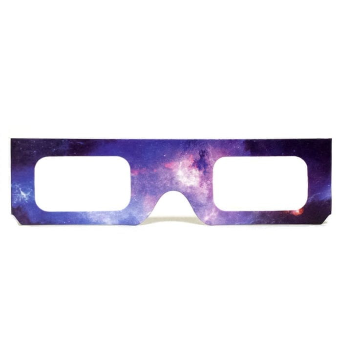 GloFX Paper Cardboard Diffraction Glasses - Galaxy Spiral