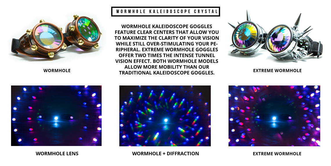 GloFX WormholeKaleidoscope Lenses