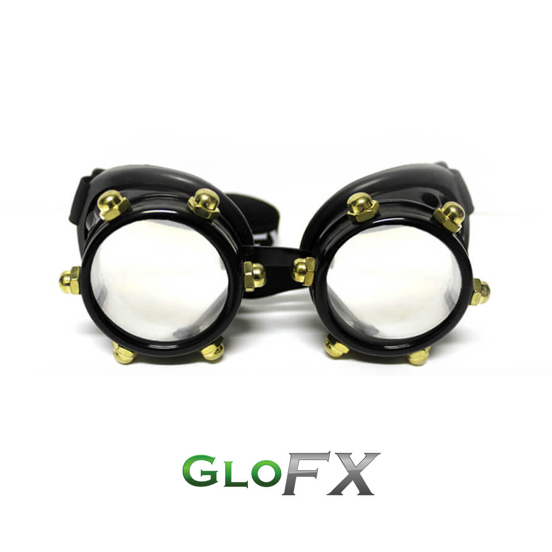 GloFX Black Bolt Diffraction Goggles 1