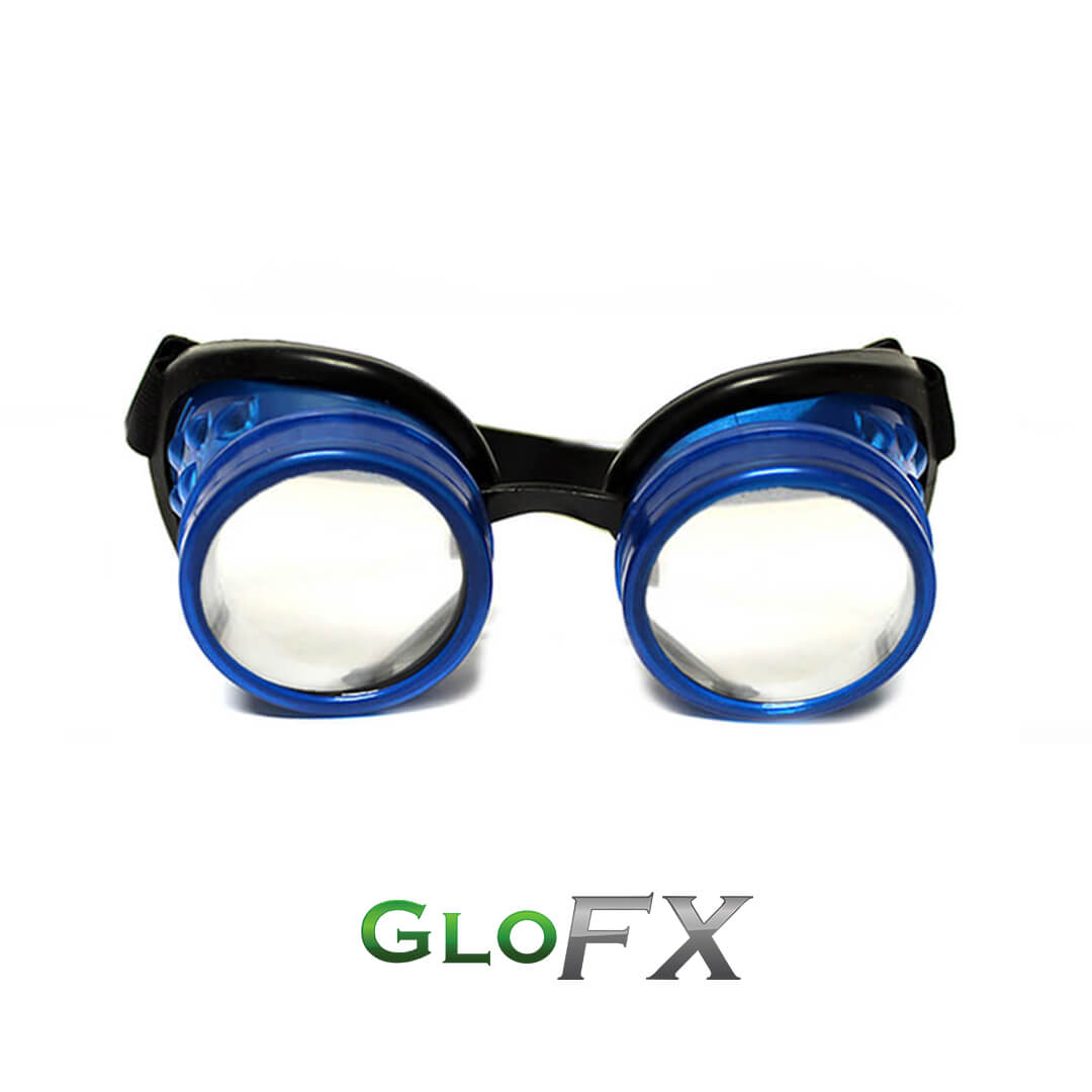 GloFX Glow Blue Diffraction Goggles 1