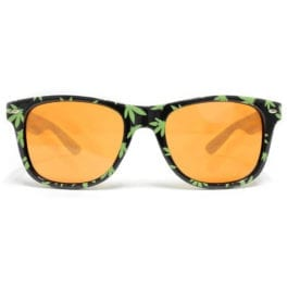 GloFX Pot Leaf Diffraction Glasses- Auburn Enhanced