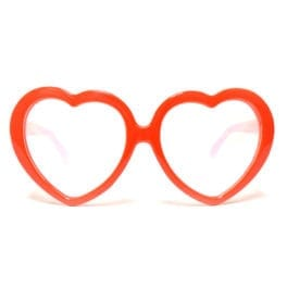GloFX Heart Shaped Diffraction Glasses - Red