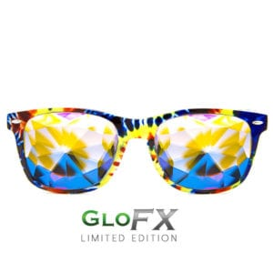 Tie Dye Kaleidoscope Glasses