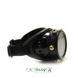 GloFX Black Bolted Diffraction & Kaleidoscope Goggles with Pad - 1