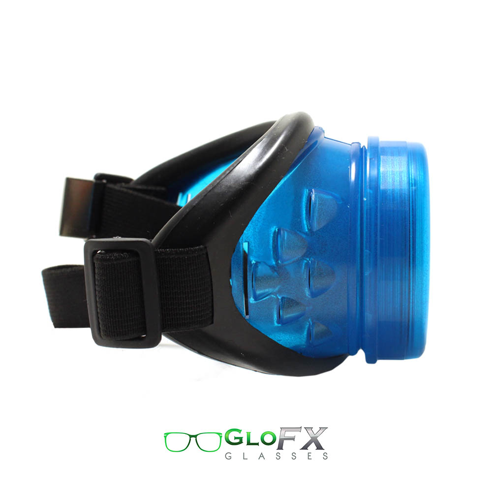 GloFX Glow Blue Kaleidoscope & Diffraction Goggles With Pad 1
