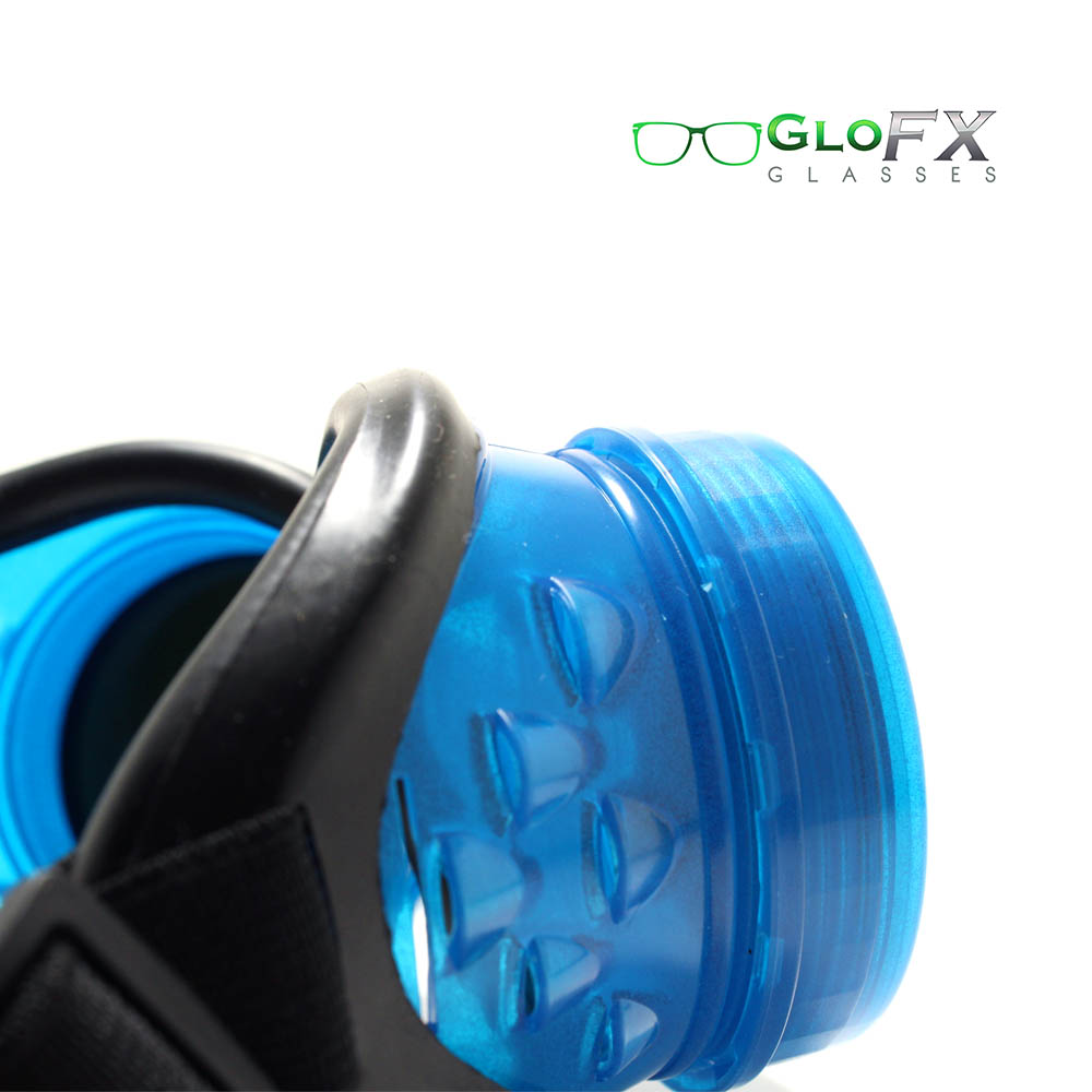 GloFX Glow Blue Kaleidoscope & Diffraction Goggles With Pad 2