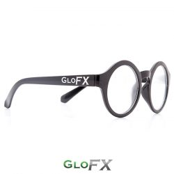 GloFX Black Round Lens Diffraction Glasses