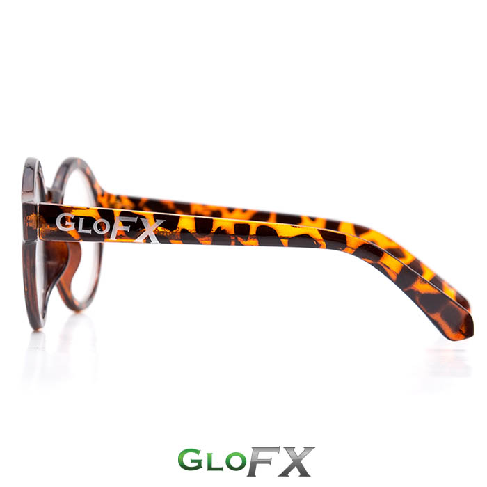 GloFX Round Tortoise Diffraction Glasses Logo
