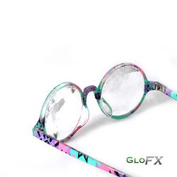 GloFX-Aztec-Kaleidoscope Glasses-Clear Wormhole5