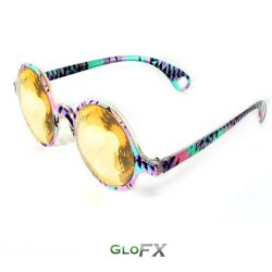 GloFX-Aztec-Kaleidoscope Glasses-Gold Wormhole4