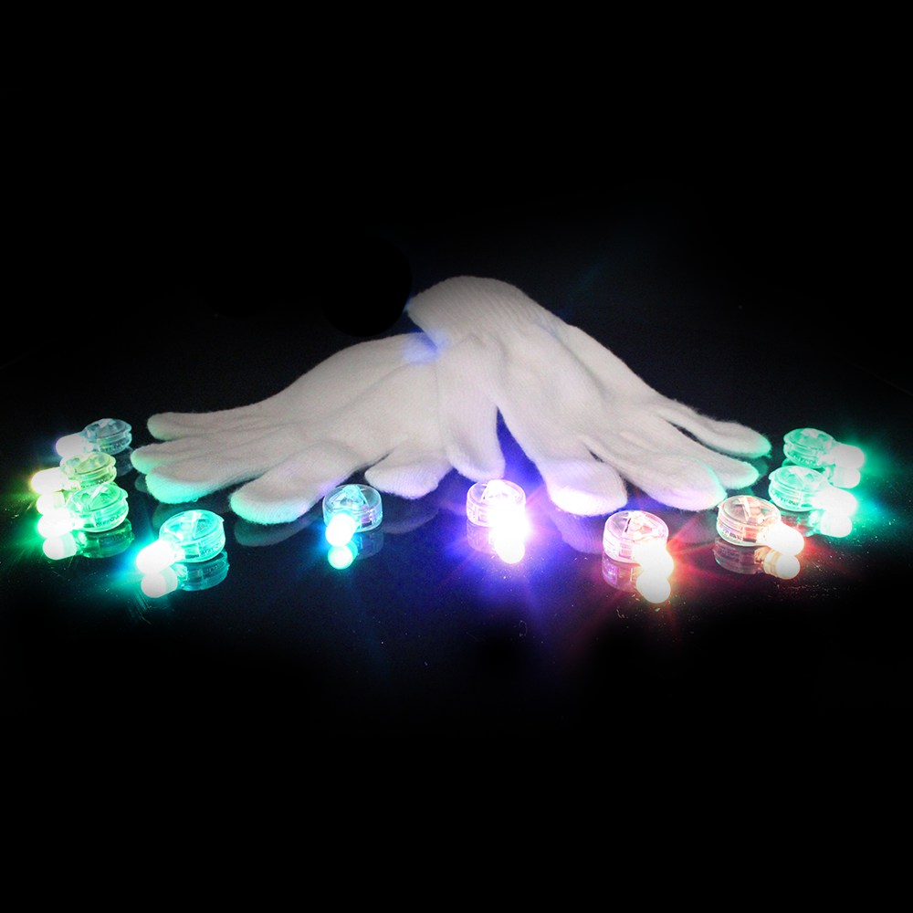 GloFX 10 LED Glove Set Lux Series