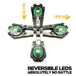 Reversible LED Light Orbit with Zero Rattle