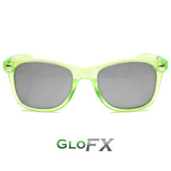 Ultimate Diffraction Glasses Transparent Green Tinted Featured
