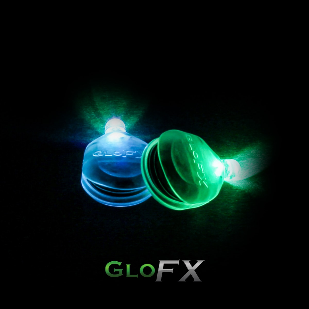 GloFX Gel Glove Set Single Light Blackv