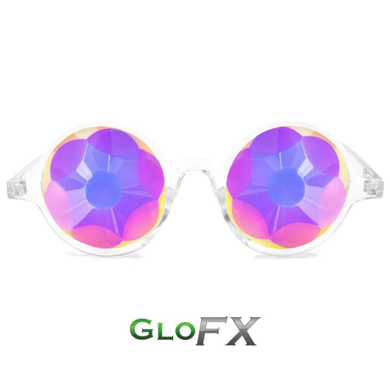 Kaleidoscope Glasses Clear Sacred Crystal Featured