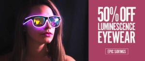 March 50 Off Luminescence Eyewear Homepage Banner