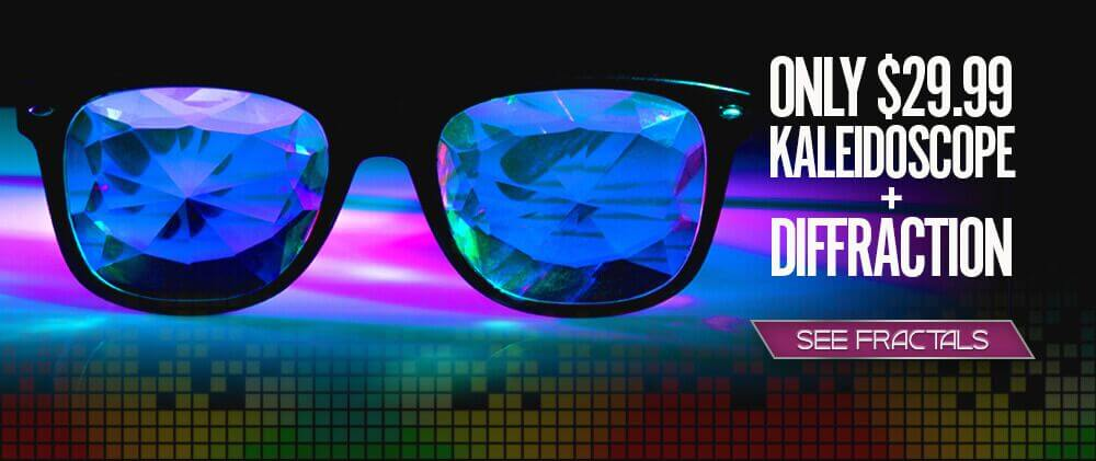 Kaleidoscope + Diffraction Glasses Homepage Banner