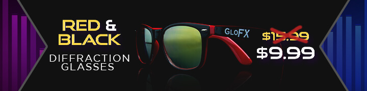 Red+Black Diffraction Glasses Flash Deal