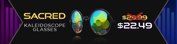 Sacred Kaleidoscope Flat Back Glasses $22.49 Flash Deal