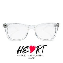 GloFX Heart Effect Diffraction Glasses Clear