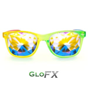 GloFX Transparent Rainbow Ultimate Kaleidoscope Glasses