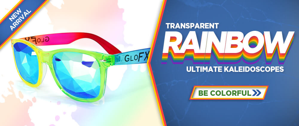 Transparent Rainbow Ultimate Kaleidoscope Glasses - Be Colorful