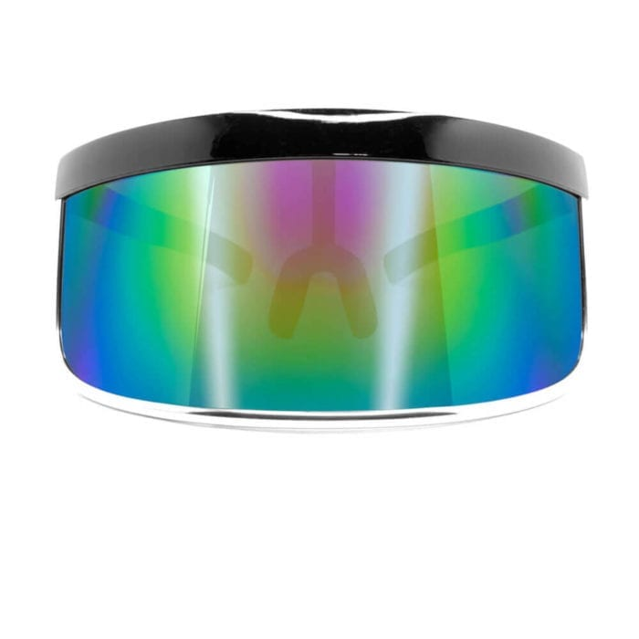 Sunglasses Visor - Face Shield Rainbow Mirror