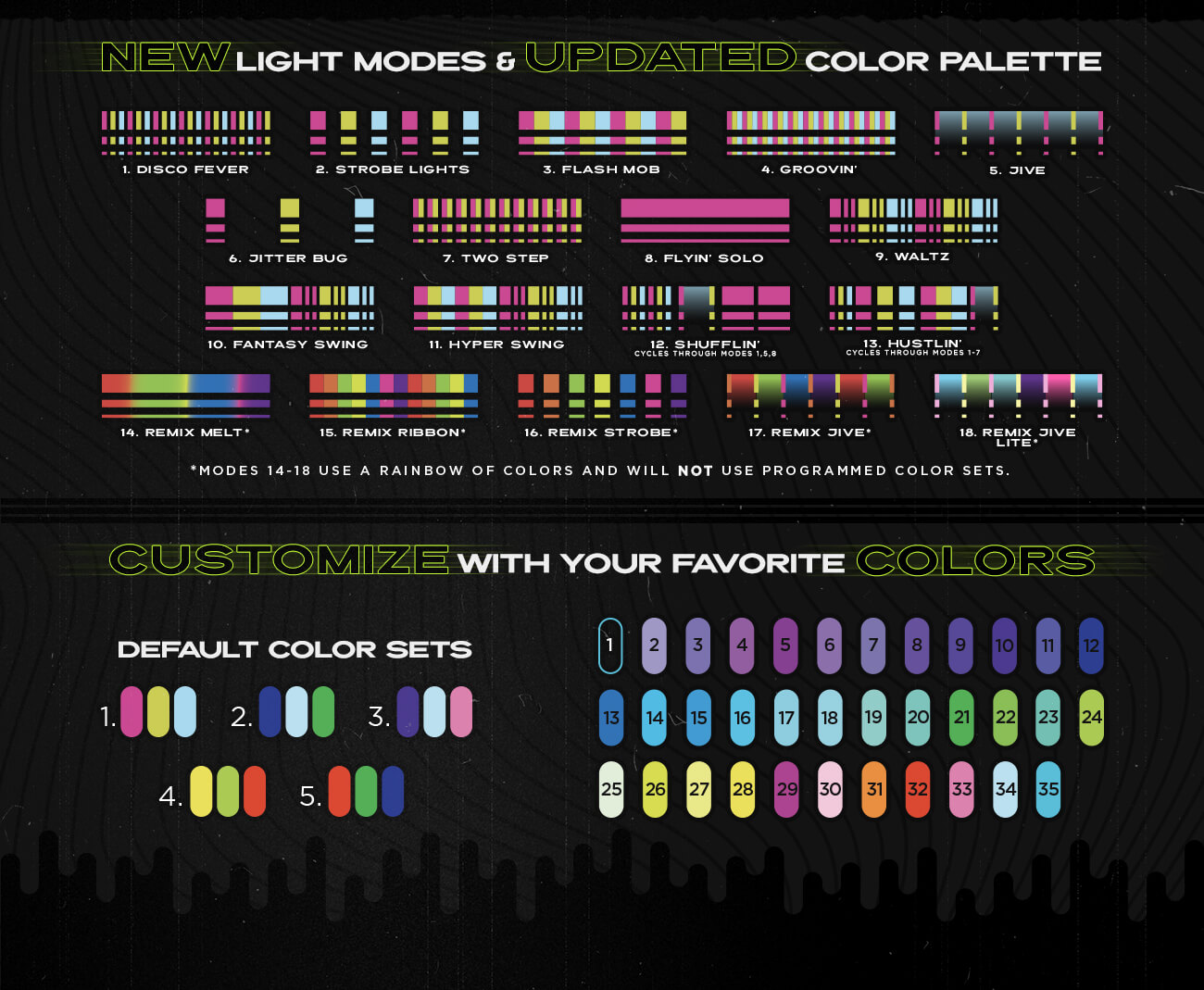 GloFX Space Remix Admat Colors-Modes