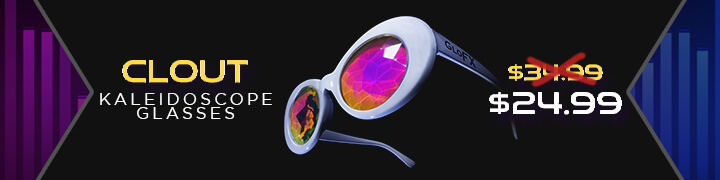 Clout Kaleidoscope Glasses - Flash Deal