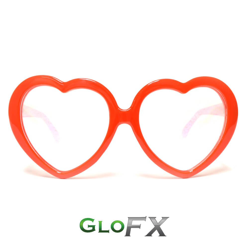 Heart Diffraction Glasses-Red