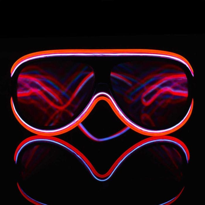Custom Luminescence Diffraction Glasses Multiple El Wire Glasses Featured Image