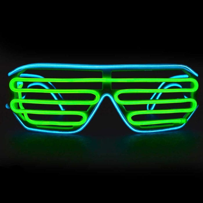 Cyan Green Luminescence Shutter Glasses El Wire Glasses Featured Image