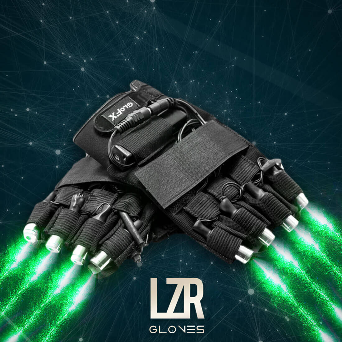 GloFX Rave Laser Gloves Green