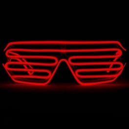 Red Luminescence Shutter Glasses El Wire Glasses Featured Image